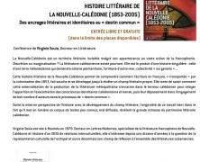 Histoire littéraire de la Nouvelle Calédonie conférence de Virginie Soula