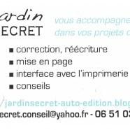 Jardin Secret, une aide pour les auteurs en devenir