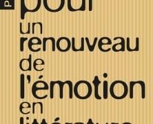Pour un renouveau en littérature de Jean-François Vernay