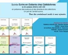 Rendez-vous Ecrire en Océanie chez Calédolivres