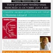 Dédicaces chez Calédolivres, L'Homme-lézard de Claudine Jacques
