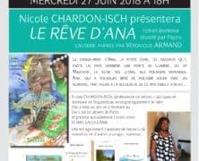 Présentation de «Le rêve d'Ana» de N. Chardon-Isch à Calédo-livres le 27 juin.