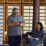 Dimanche 9 à 17h Virginie Soula a reçu trois invités, tous écrivains publiés chez Ecrire en Océanie